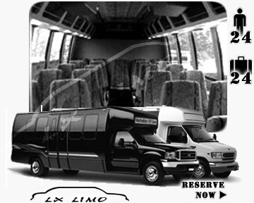 Bus for airport transfers in New York, NY