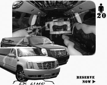 Cadillac Escalade 20 passenger SUV Limousine for rental in New York, NY