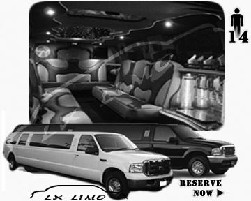 Lincoln Excursion SUV Limo for hire in New York, NY