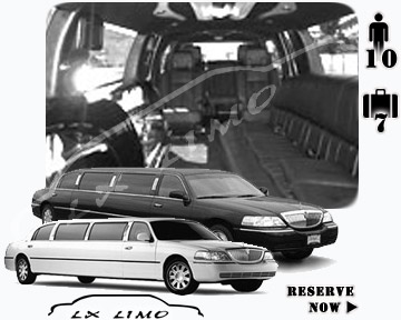 Stretch Limo airport shuttle in New York